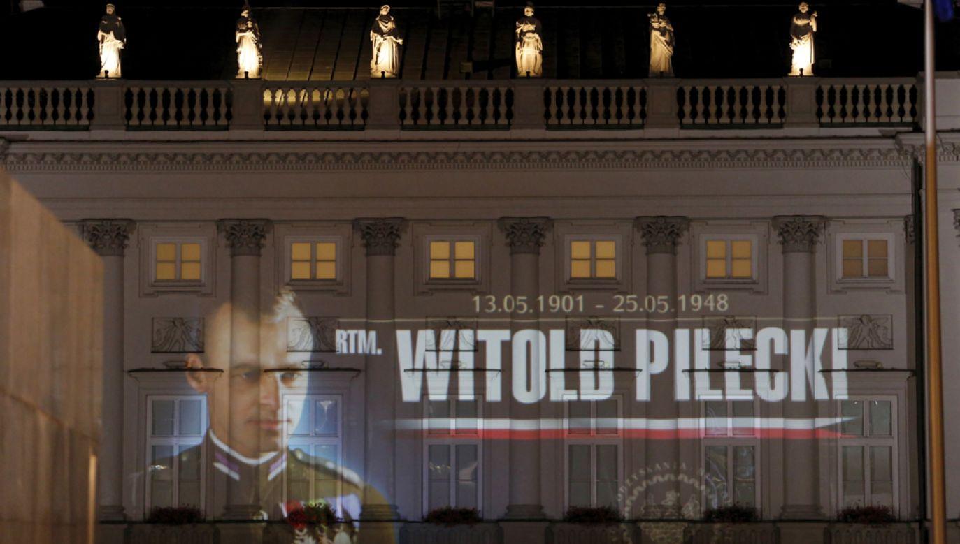 Iluminacja na fasadzie Pałacu Prezydenckiego  (fot. PAP/Adam Guz)