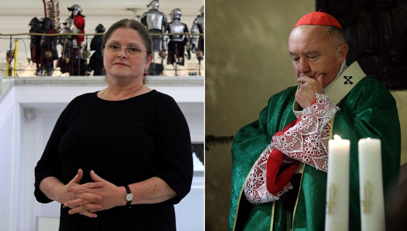 Posłanka Krystyna Pawłowicz napisała list otwarty do kardynała Kazimierza Nycza (fot. Flickr/Lukas Plewnia/PAP/Tomasz Gzell)