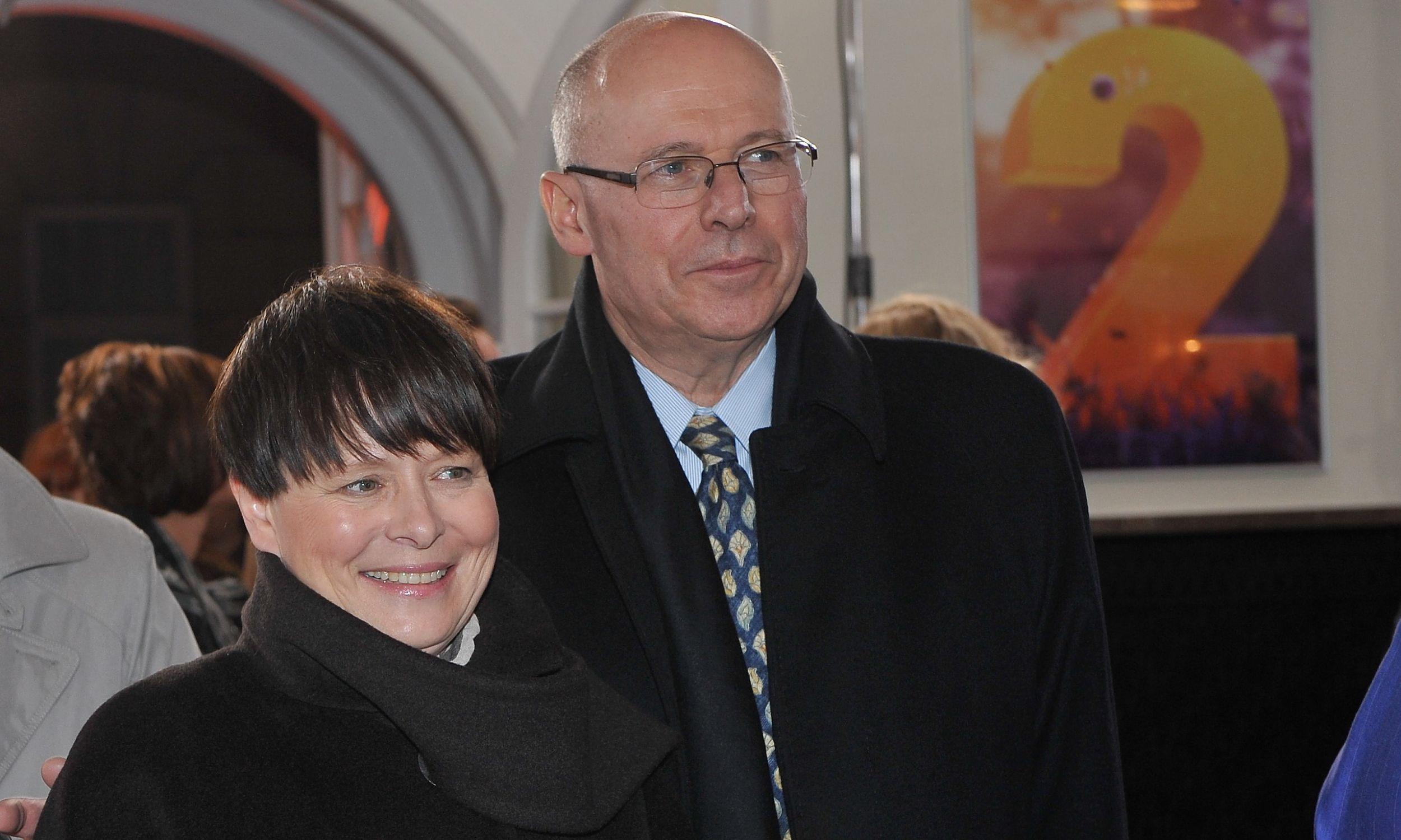 Z Czesławem Bieleckim podczas koncertu z okazji 40-lecia telewizyjnej Dwójki, październik 2010 . Fot. TVP/Ireneusz Sobieszczuk