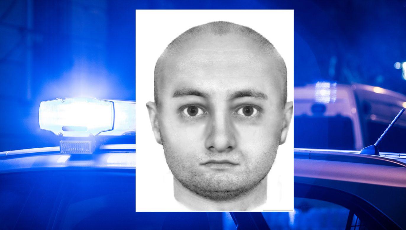 Portret pamięciowy poszukiwanego mężczyzny (fot. poznan.policja.gov.pl)