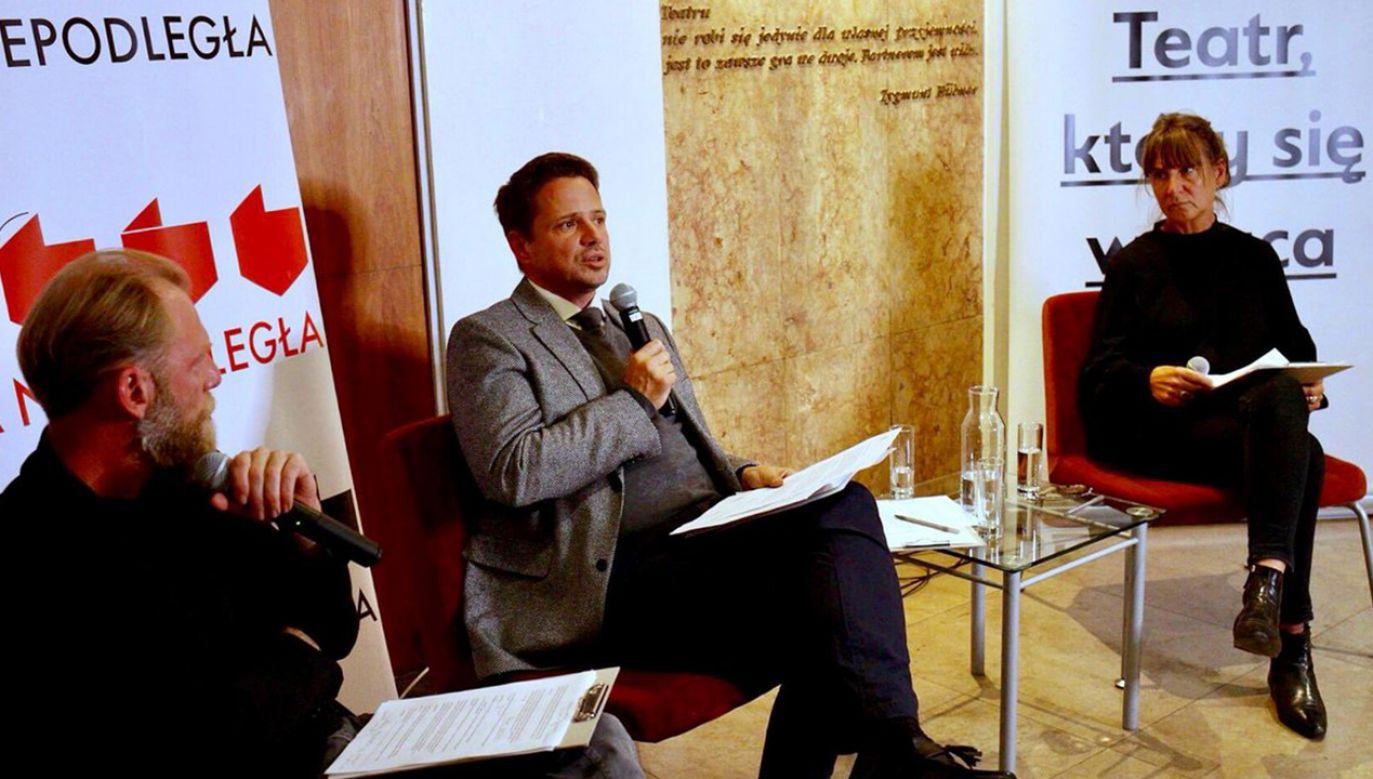 Rafał Trzaskowski jako prezydent Warszawy byłby gotów objąć patronatem Paradę Równości (fot. TT/Rafał Trzaskowski)
