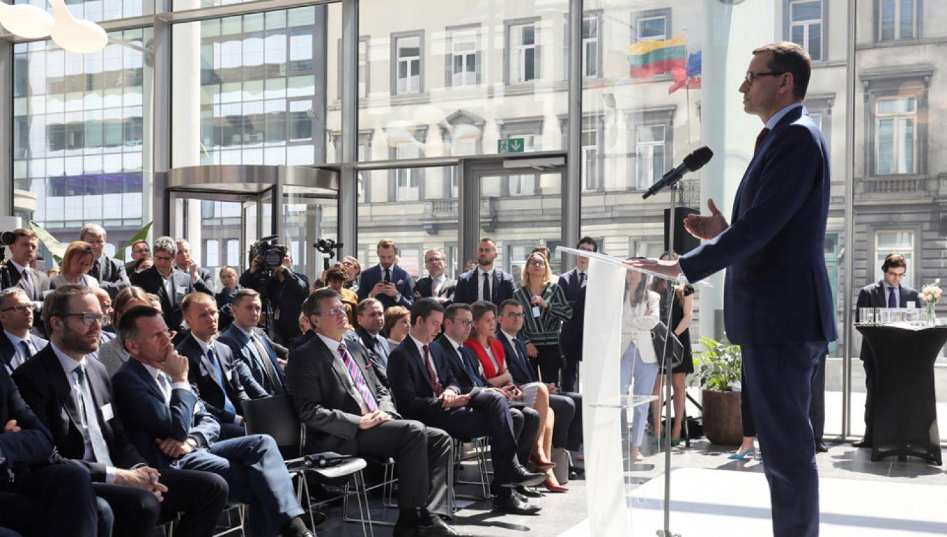 Premier Mateusz Morawiecki z wizytą w Brukseli (fot. PAP/Paweł Supernak)
