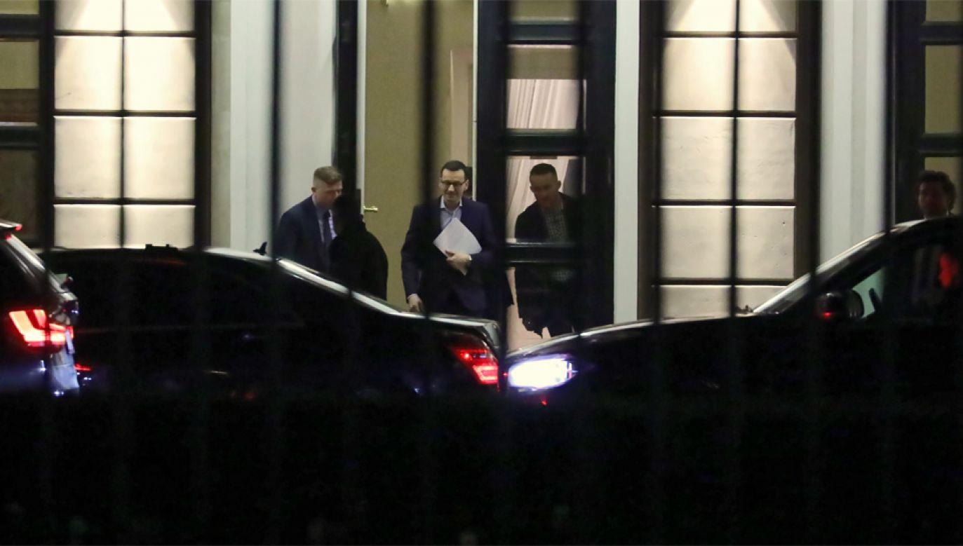 Mateusz Morawiecki gościł w Pałacu Prezydenckim (fot. PAP/Tomasz Gzell)