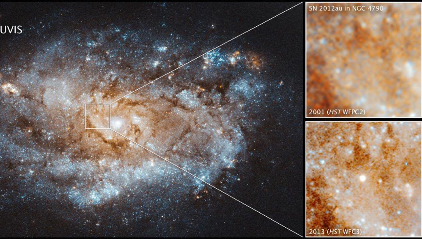 SN 2012au świeci wyjątkowo jasno (fot. NASA)