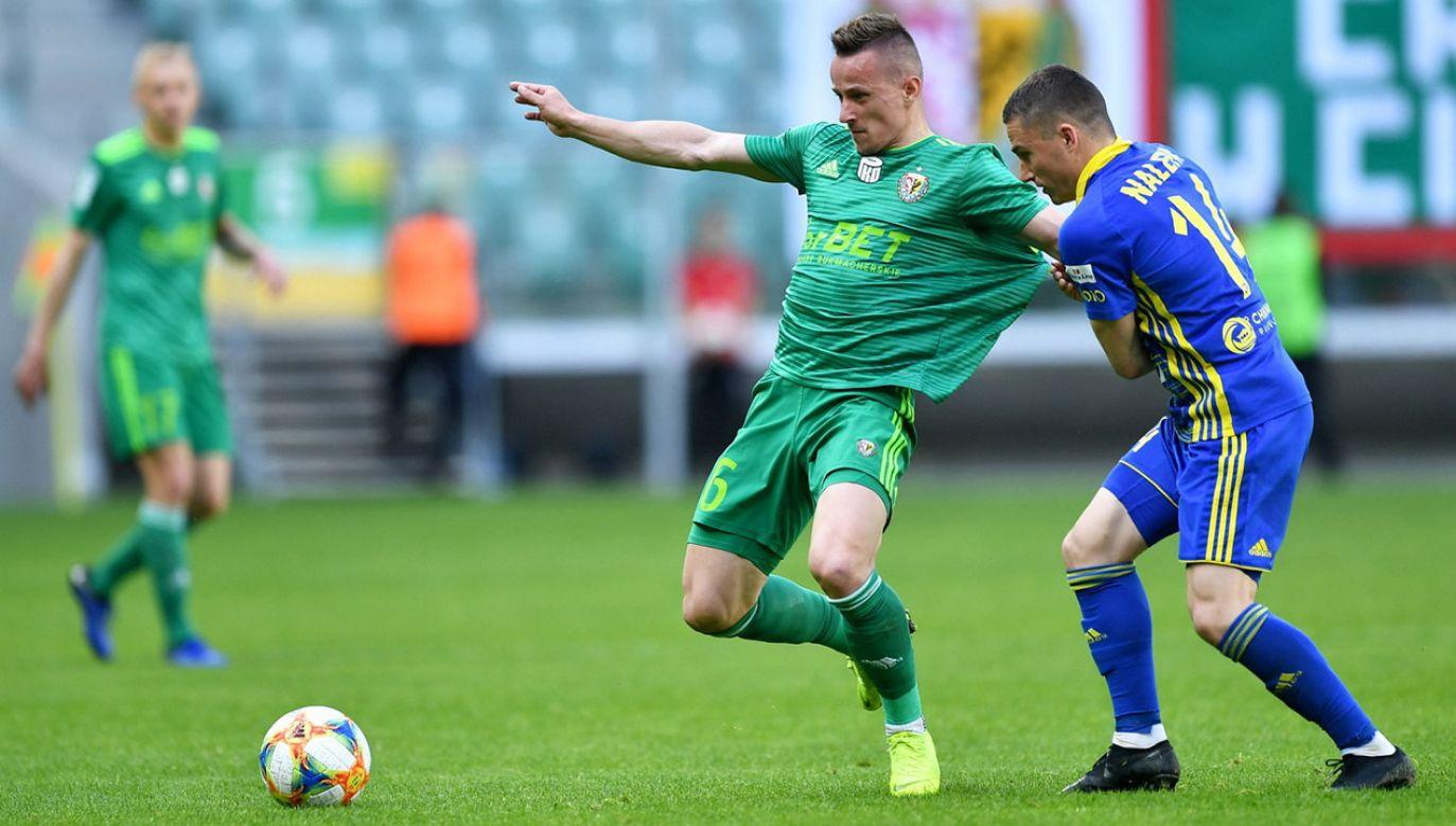 Oba kluby w dniu spotkania we Wrocławiu były już pewne utrzymania w ekstraklasie (fot. PAP/Maciej Kulczyński)
