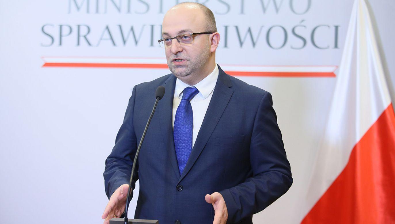 Wiceminister sprawiedliwości Łukasz Piebiak (fot. arch.PAP/Leszek Szymański)