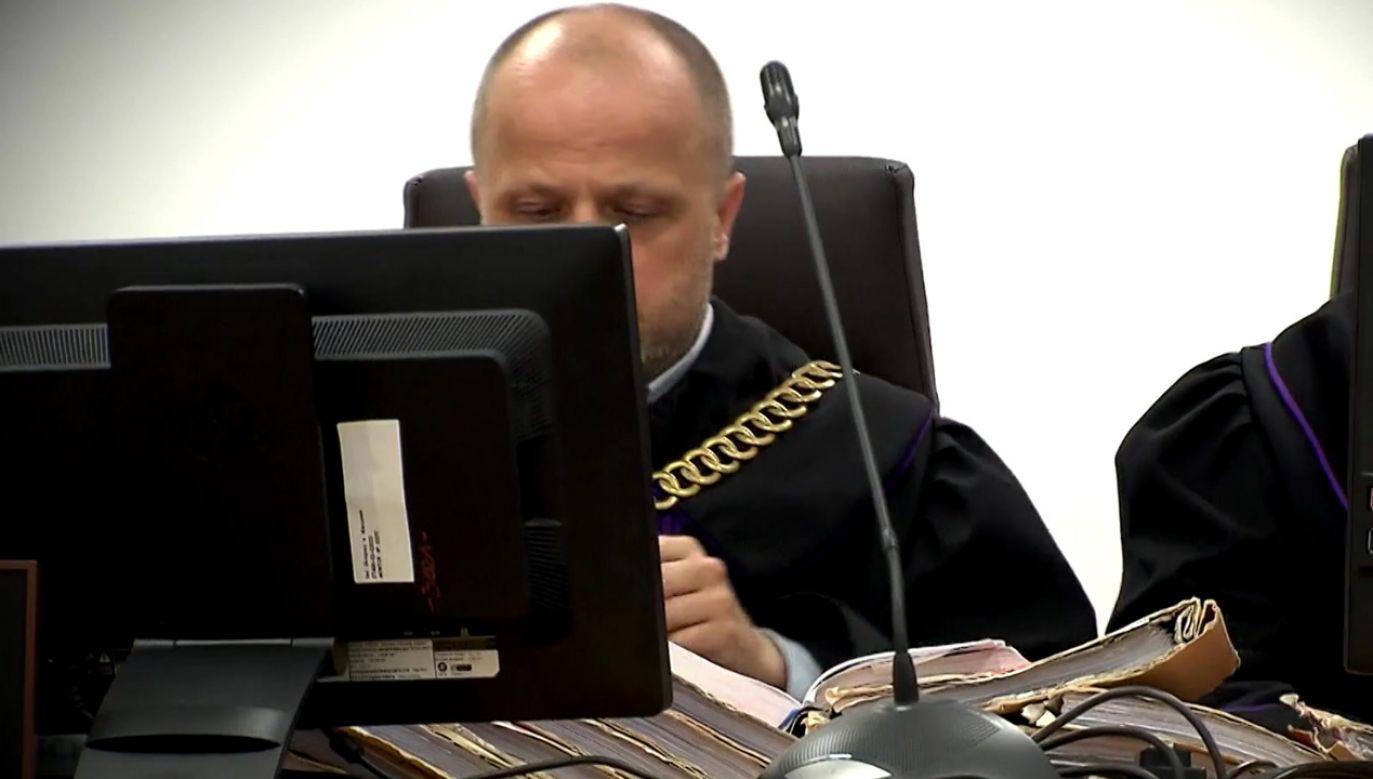 Sędzia sądu okręgowego w Warszawie Piotr Gąciarek (fot. TVP)