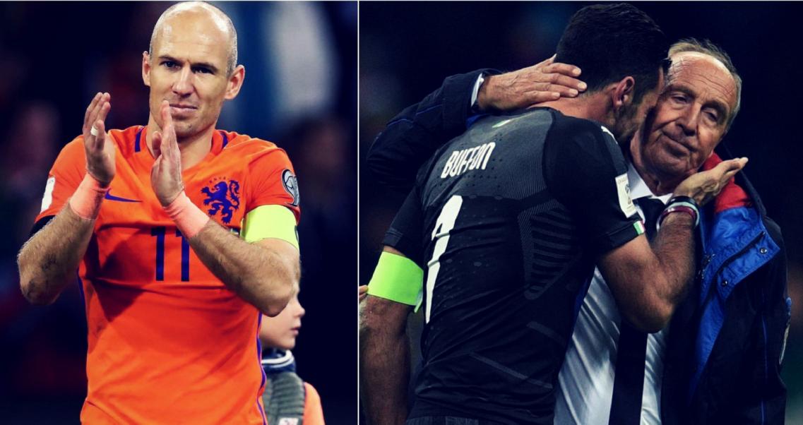 85f1d4721 Od lewej: Arjen Robben, Gianluigi Buffon i Giampiero Ventura (fot. Getty)