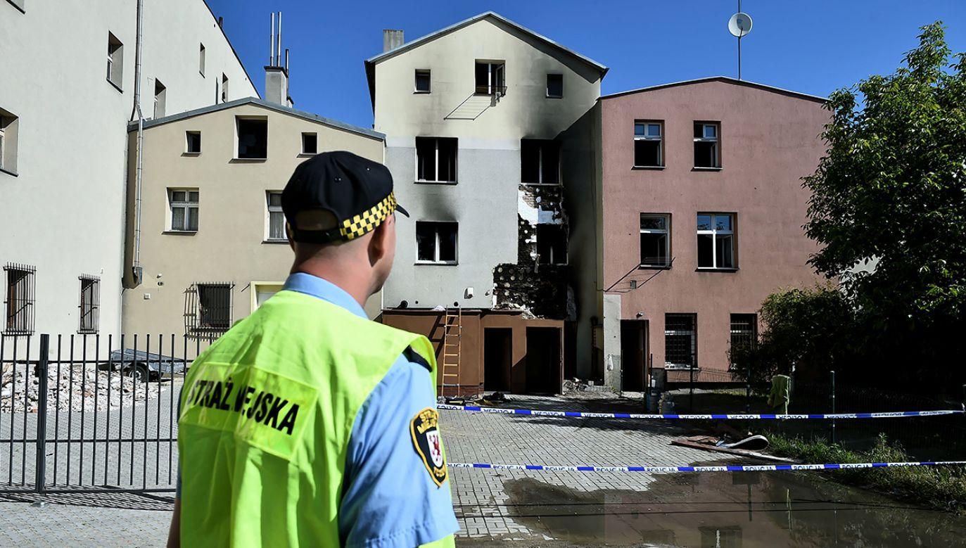 Ogień zabił dwie osoby (fot. PAP/Jan Dzban)