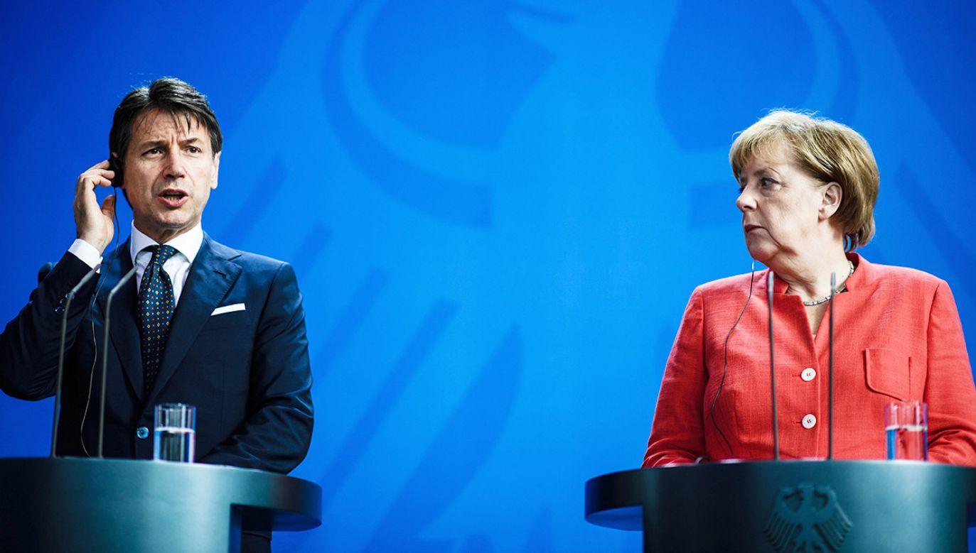Giuseppe Conte jest przeciwny przyjmowaniu nielegalnych imigrantów (fot. PAP/EPA/CLEMENS BILAN)