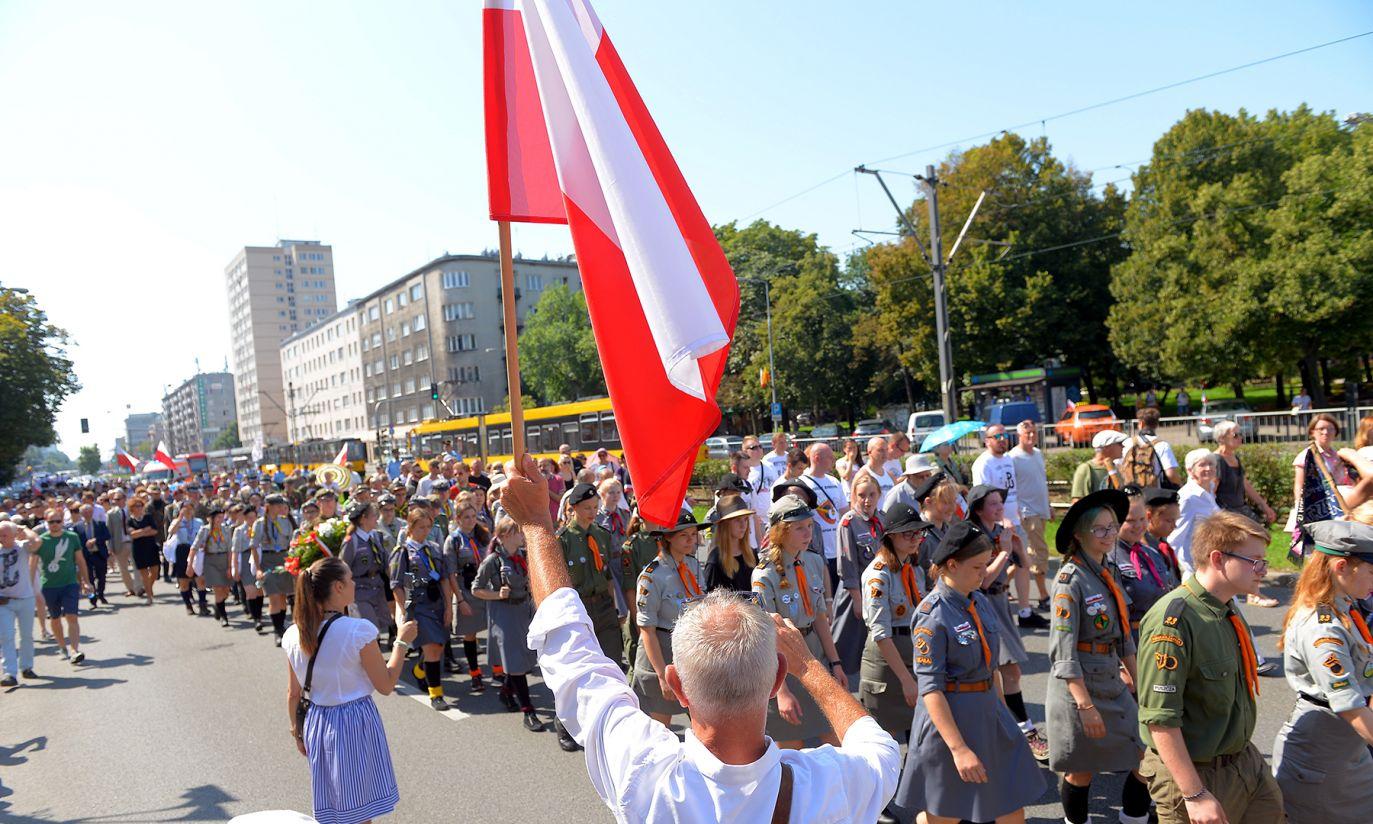 Marsz Mokotowa  wyruszył z parku im. Orlicz-Dreszera (fot. PAP/Stach Leszczyński)