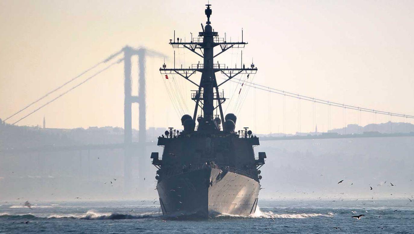 Sztab marynarki wojennej Ukrainy potwierdził, że USS Donald Cook zawinie do Odessy 25 lutego (fot. REUTERS/Yoruk Isik)