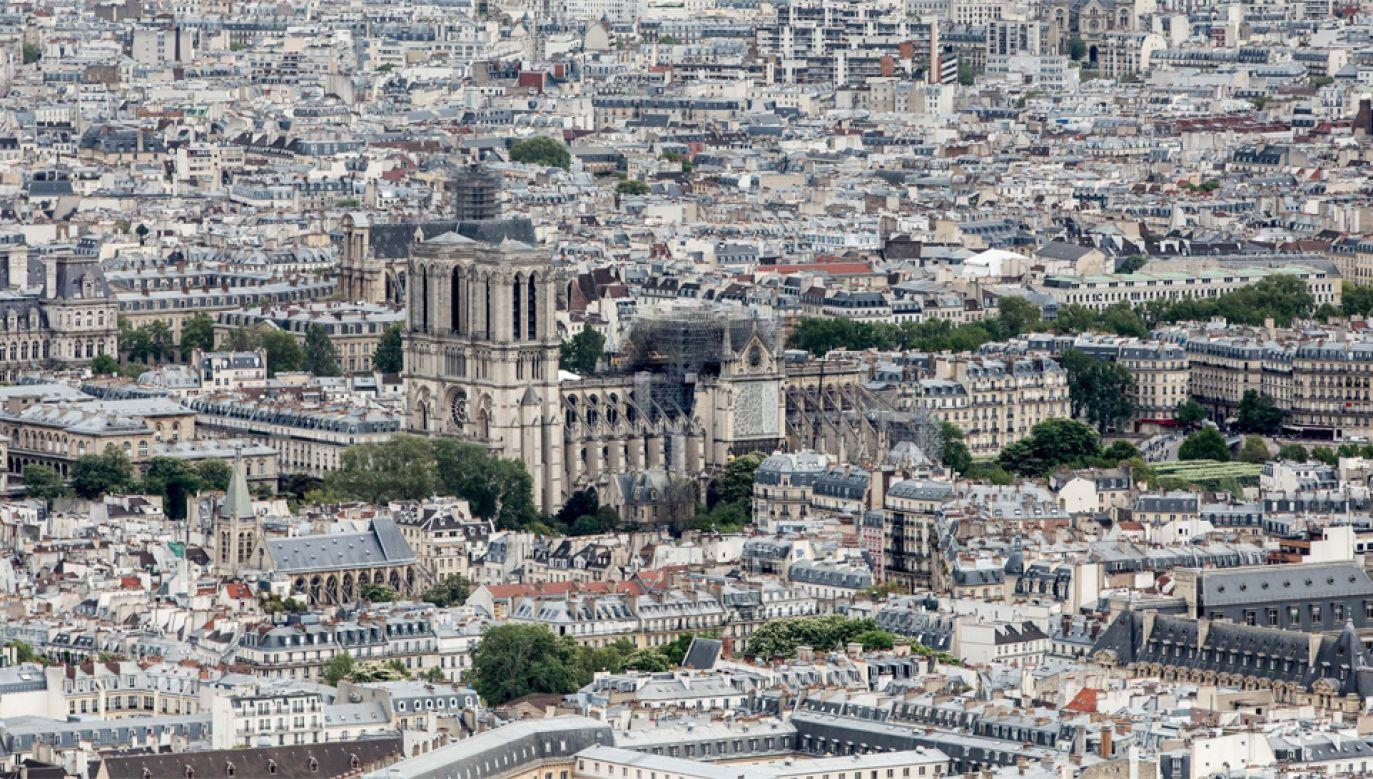 Odbudowa Notre Dame pochłonie do 600 mln euro (fot. PAP/EPA/CHRISTOPHE PETIT TESSON)