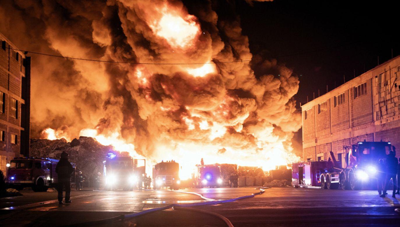Strażacy przez wiele dni zmagali się z gigantycznym pożarem w Zgierzu (fot. arch.PAP/Grzegorz Michałowski)