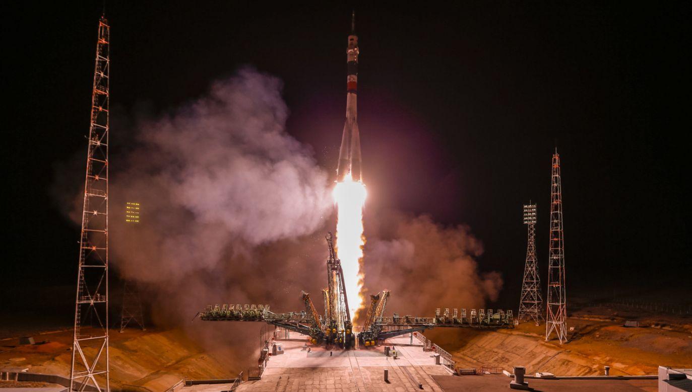Lot Sojuza trwał niespełna 6 godzin (fot. PAP/ EPA/SERGEI ILNITSKY )
