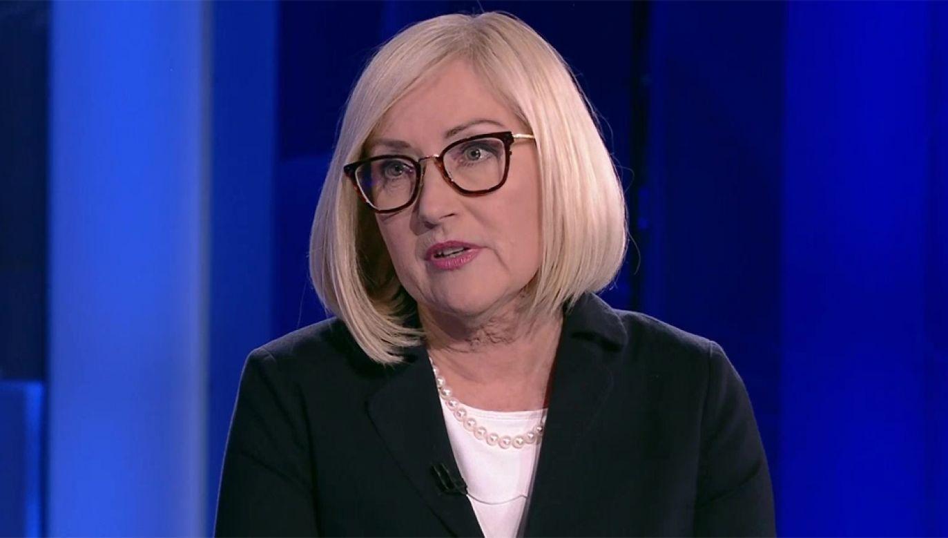 Rzecznik rządu Joanna Kopcińska (fot. TVP Info)