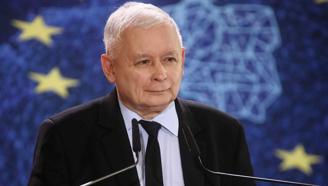 Prezes PiS Jarosław Kaczyński zwrócił się do opozycji (fot. PAP/Łukasz Gągulski)