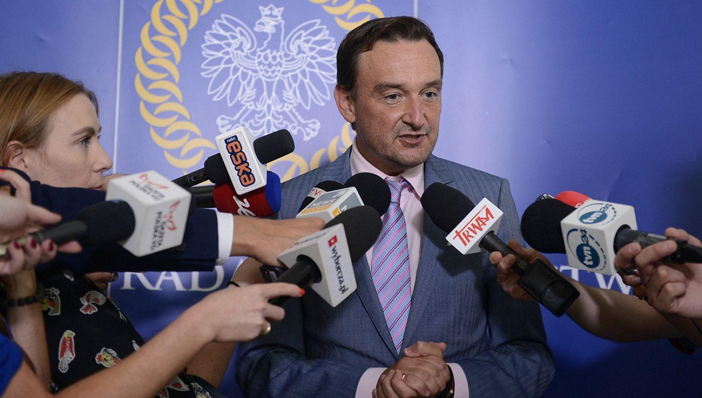 Rzecznik KRS sędzia Maciej Mitera (fot. PAP/Jakub Kamiński)