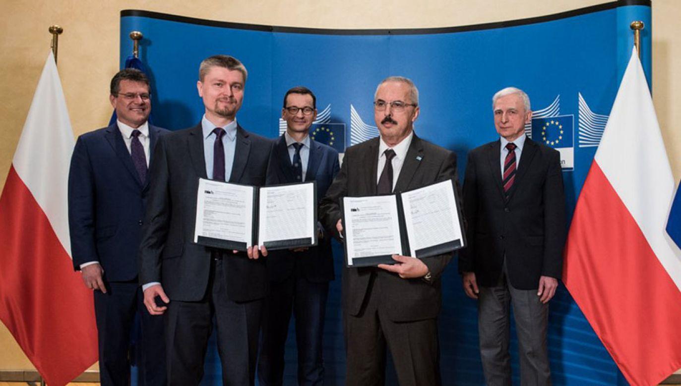 Umowa na dofinansowanie połączenia gazowego Polski z Danią podpisana (fot. KPRM/Filip Błażejowski)