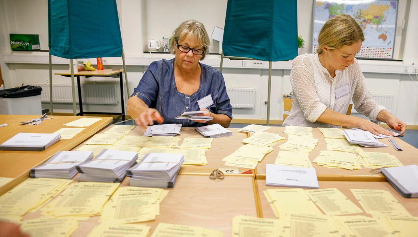 Wybory do szwedzkiego parlamentu odbędą się jednocześnie z wyborami do samorządów 9 września (fot. REUTERS/Fredrik Persson/TT News Agency)