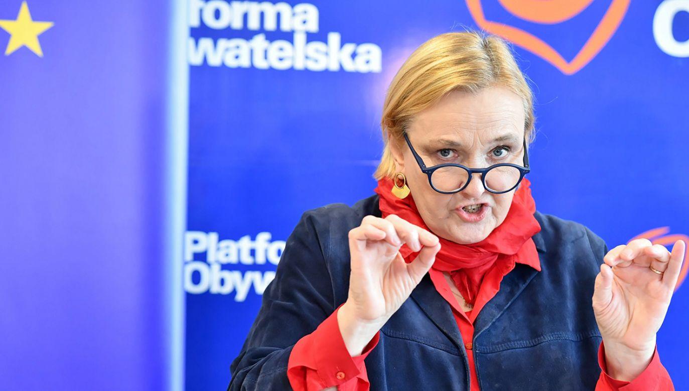 Róża Thun (PO) w rankingu aktywności europosłów w Parlamencie Europejskim zajmuje 524 miejsce na 751 (fot. arch. PAP/Piotr Polak)