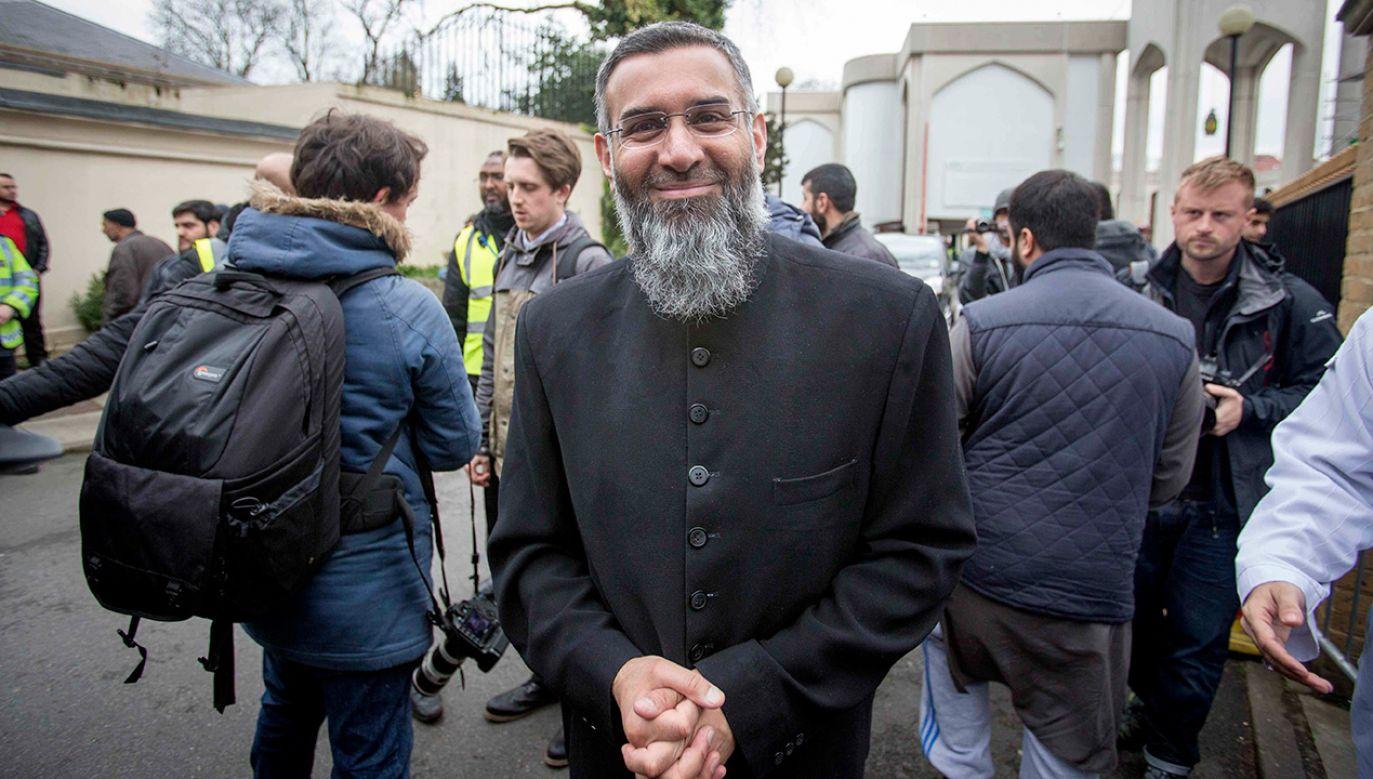 Imam Anjem Choundary został w 2016 r. skazany na karę 5,5 roku więzieniaza wspieranie tzw. Państwa Islamskiego (fot. Barcroft Media via Getty Images)