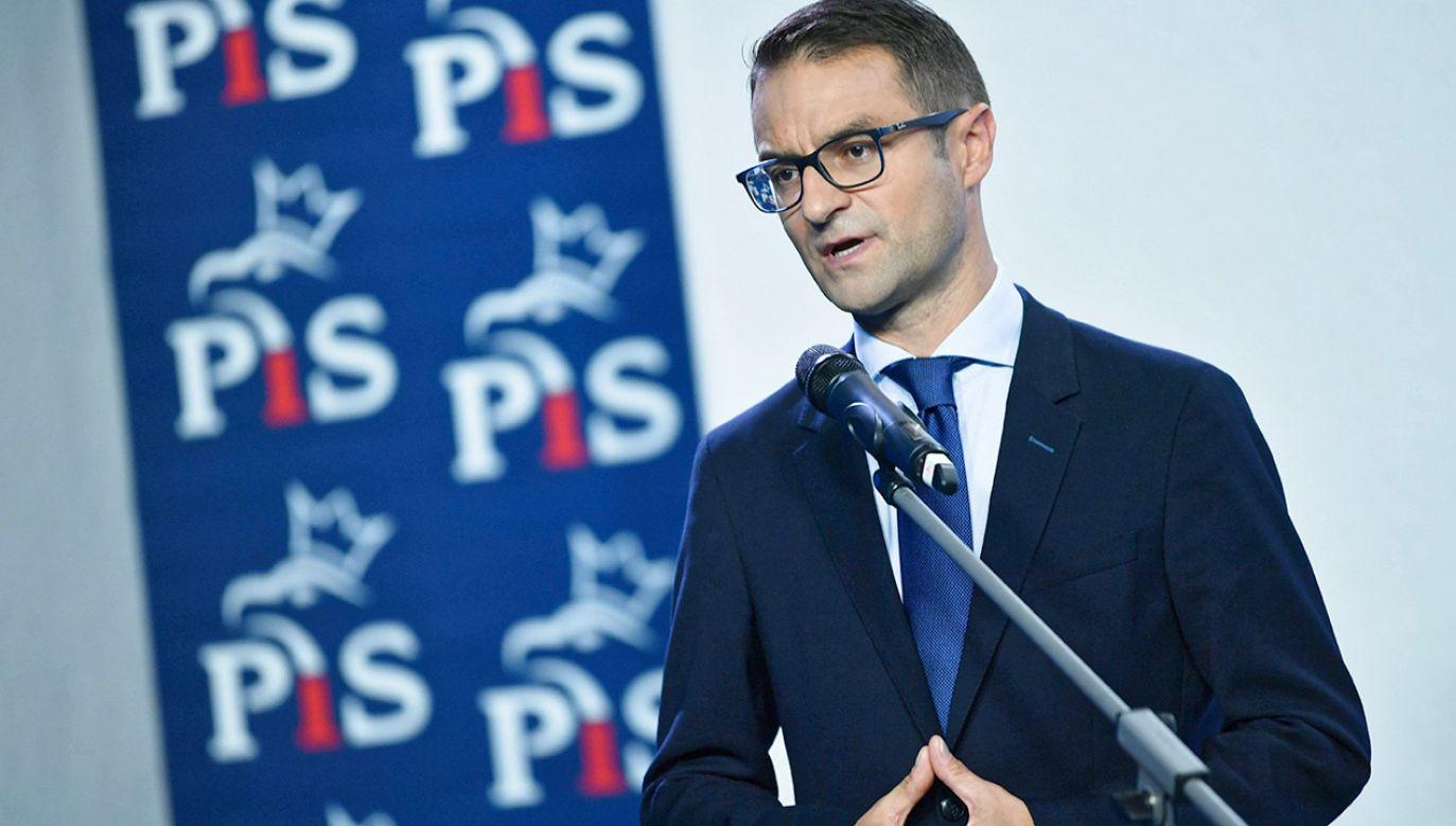 Tomasz Poręba był szefem sztabu PiS podczas ostatnich wyborów samorządowych (fot. arch.PAP/Bartłomiej Zborowski)