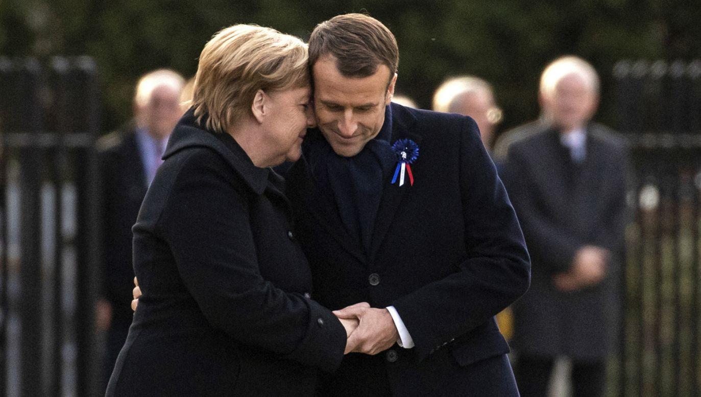"""""""Emmanuel Macron, jako prowadzący politykę zachodniej Europy, który trochę zakryje panią Merkel, to już jest przeszłość"""" – ocenił niemiecki ekspert  (fot. PAP/EPA/ETIENNE LAURENT)"""