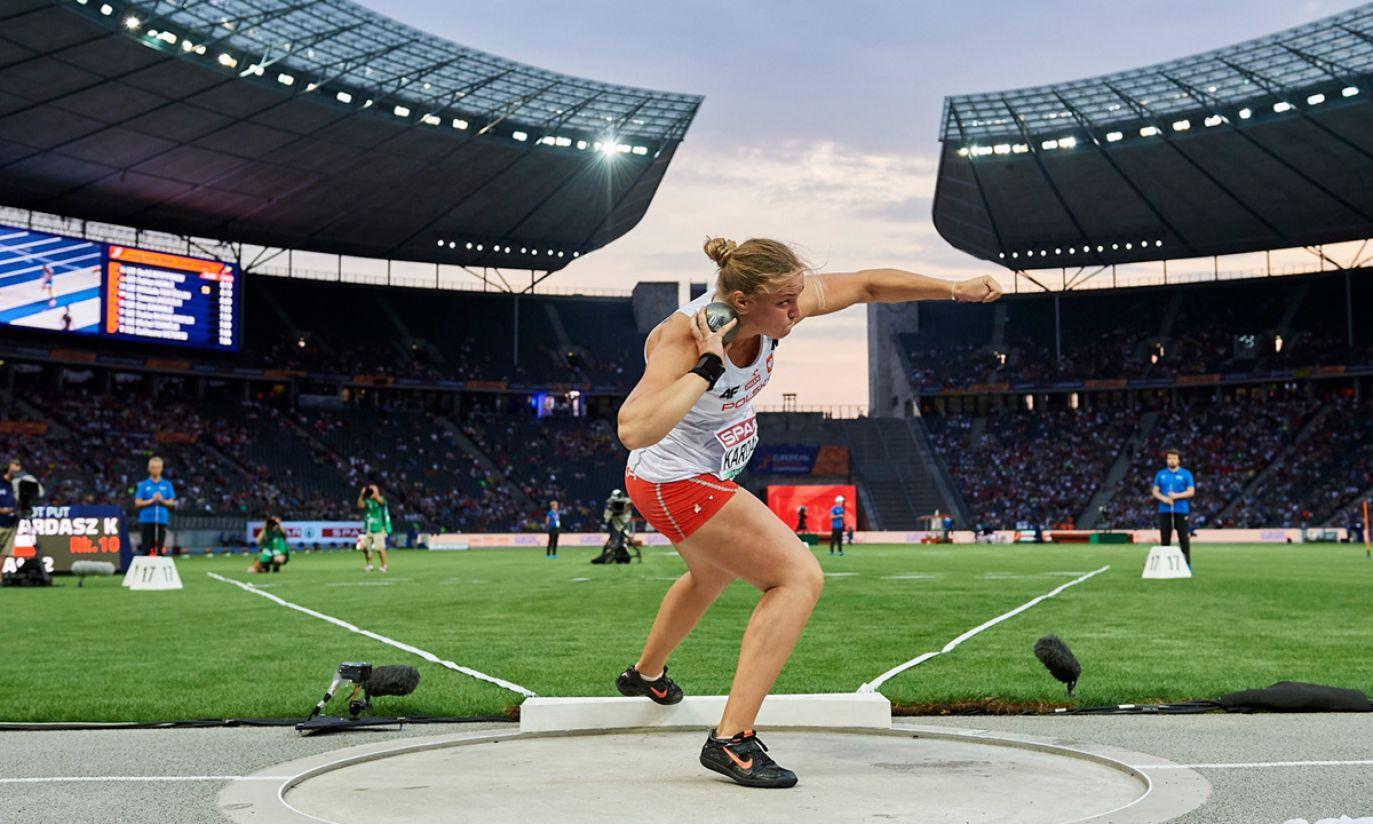 Klaudia Kardasz w finale konkursu pchnięcia kulą (fot. PAP/Adam Warżawa)