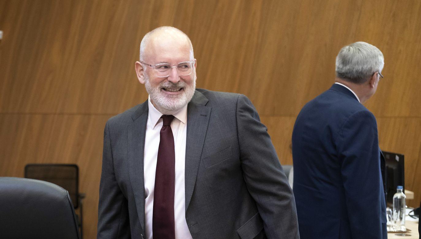 Wiceszef Komisji Europejskiej Frans Timmermans (fot. PAP/EPA/OLIVIER HOSLET)