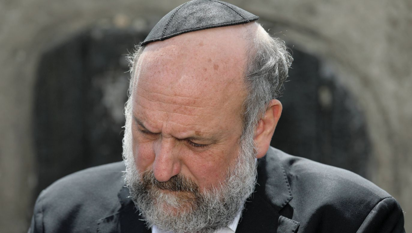Chief Rabbi of Poland Michael Schudrich at the ceremony to commemorate killed residents of Jedwabne. Photo: PAP/Artur Reszko