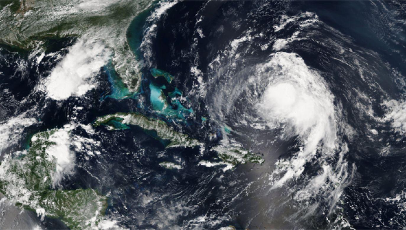 Huragan Jose osiąga prędkość 120 km/godz. (fot. PAP/EPA/NOAA/NASA HANDOUT)