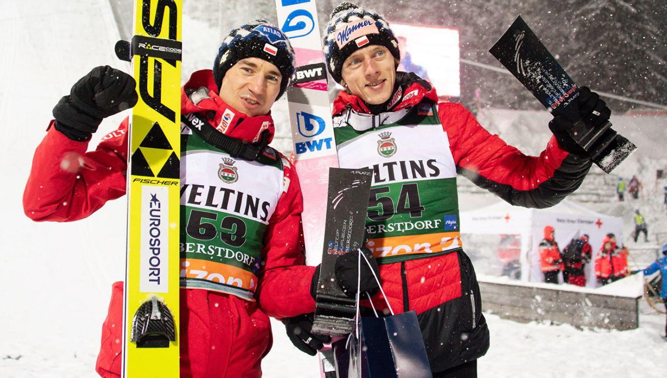 Kamil Stoch w kwalifikacjach do niedzielnego konkursu w Oberstfdorfie był drugi (fot. PAP/EPA/DANIEL KOPATSCH)
