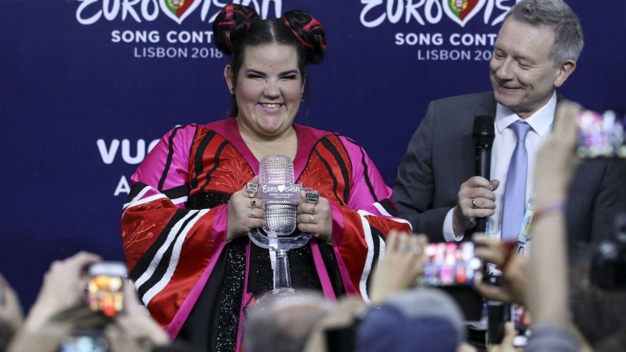"""Europa zdecydowała. Bezkonkurencyjna okazała się Netta i utwór """"Toy"""". A to znaczy, że przyszłoroczny finał odbędzie się w Izraelu (fot. PAP/EPA)"""