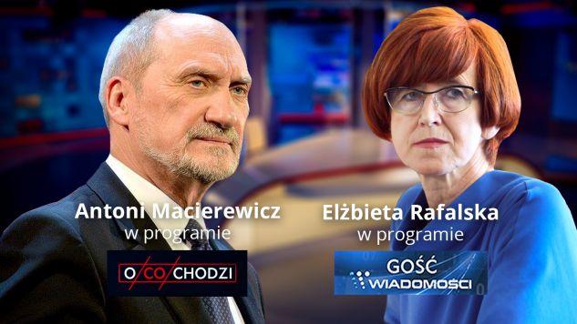 Antoni Macierewicz, Elżbieta Rafalska (fot. TVP Info)