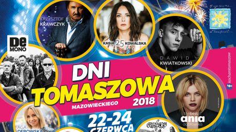 Plakat Dni Tomaszowa 2018 / fot. Urząd Miasta Tomaszowa Mazowieckiego