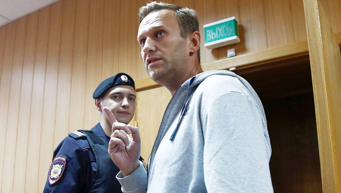 Rosyjski opozycjonista Aleksiej Nawalny (fot. REUTERS/Maxim Shemetov)