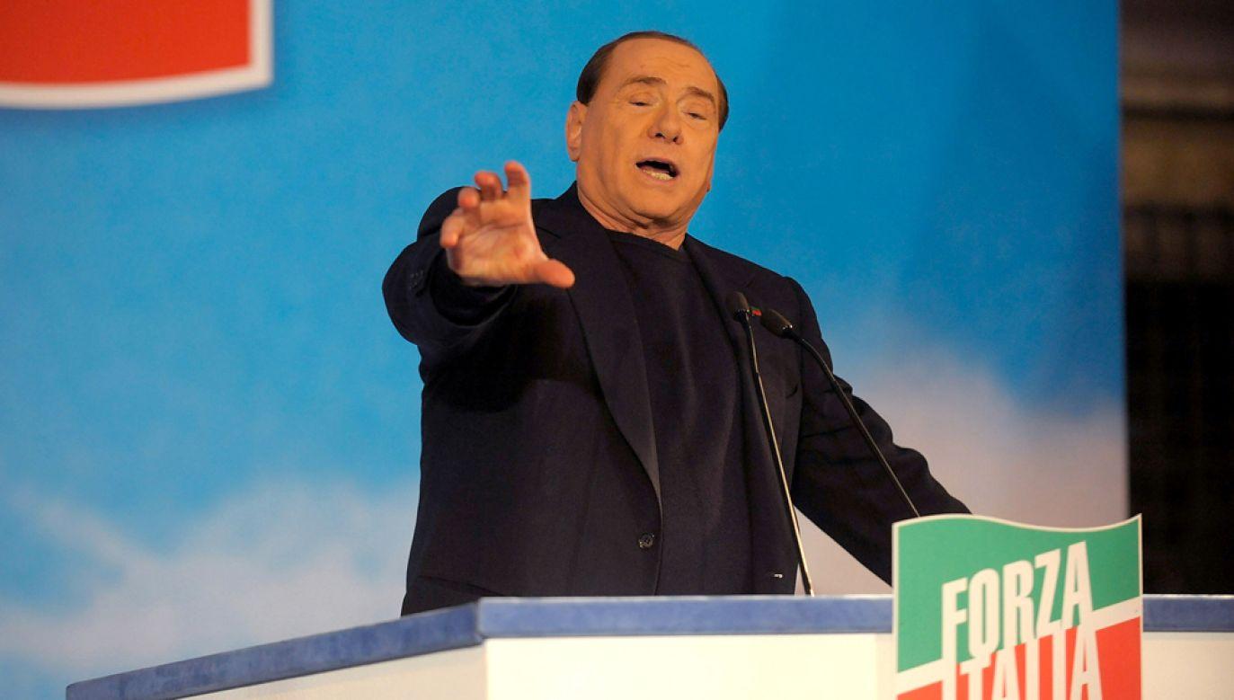 Prowadząca w przedwyborczych sondażach koalicja centroprawicy pod wodzą Silvio Berlusconiego zapowiada rewizję unijnych traktatów (fot. Giorgio Cosulich / Stringer)