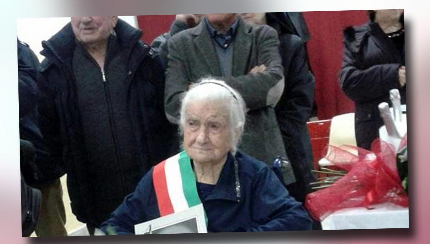 Maria Giuseppa Robucci jest drugą najstarszą osobą na świecie (fot. TT/l'Histoire du jour)