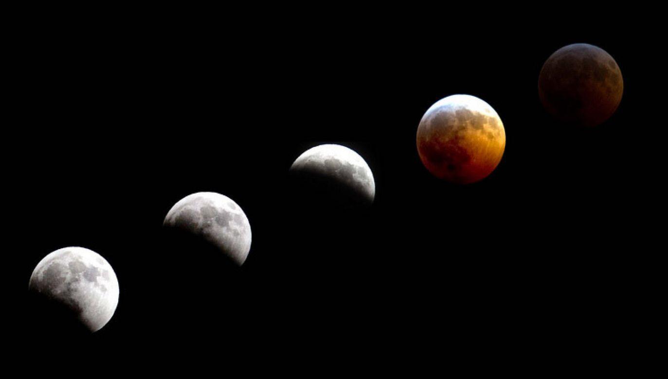 Kolejne fazy zaćmienia Księżyca (fot. flickr.com/U.S. Army Alaska)