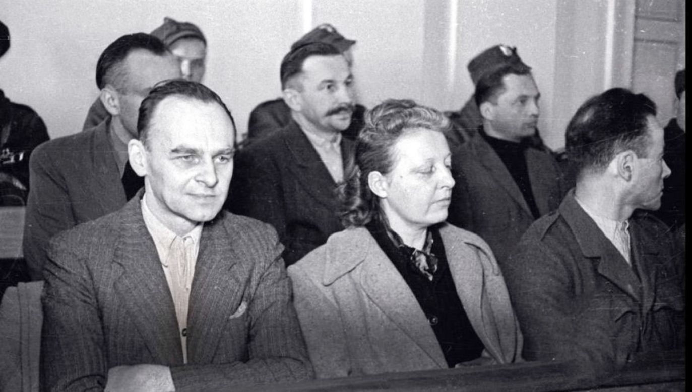 Witold Pilecki (L) during his trial. Photo: Public domain
