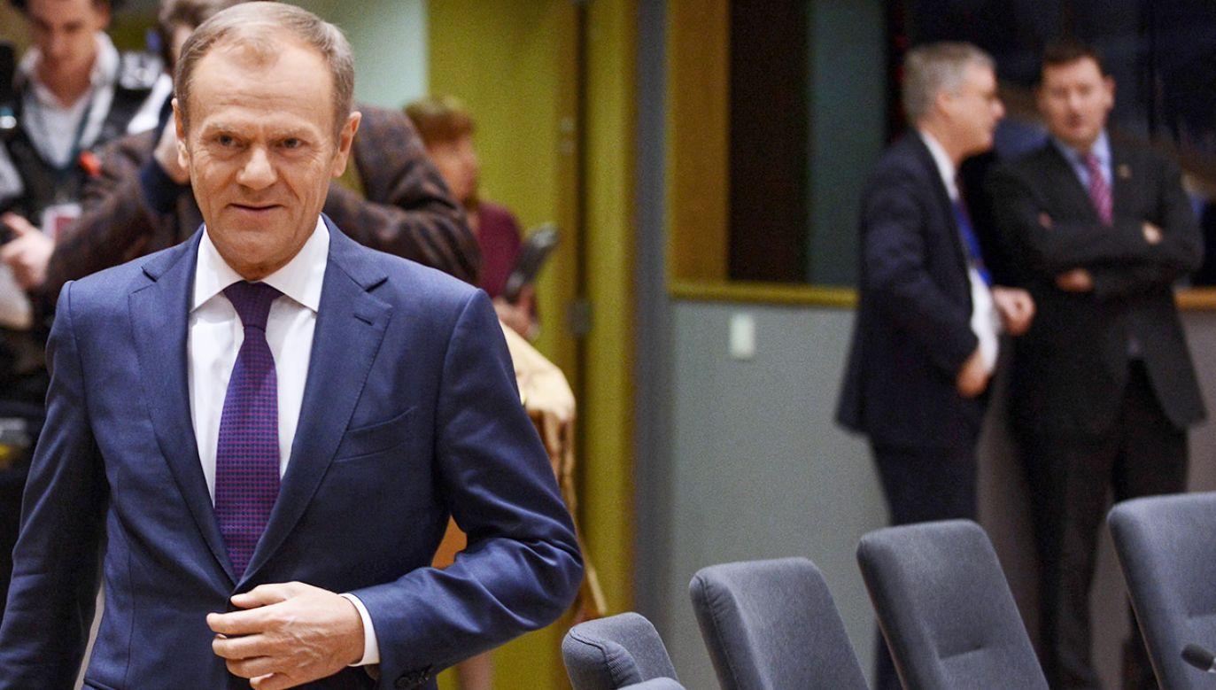Przewodniczący Rady Europejskiej Donald Tusk (fot. PAP/Jakub Kamiński)