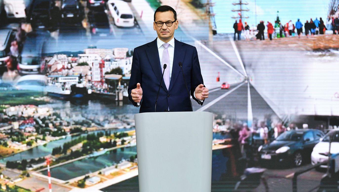 Premier Mateusz Morawiecki (fot. PAP/Marcin Bielecki)