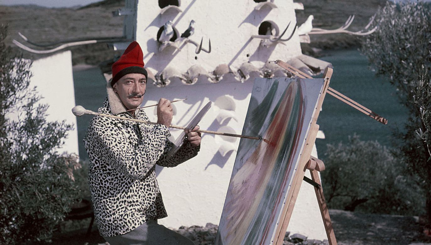 Salvador Dali zmarł w 1989 roku (fot. Getty Images/KAMMERMAN)