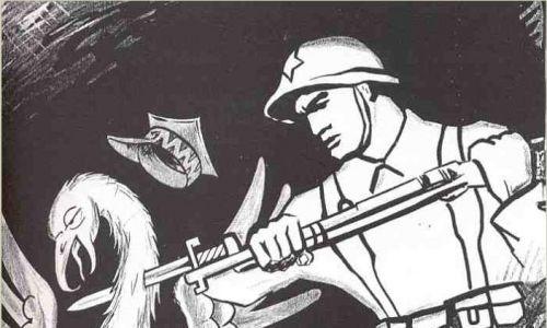 Sowiecki antypolski plakat propagandowy z 1939 r. Fot. Wikimedia/www.fronta.cz/plakat/polsky-orel