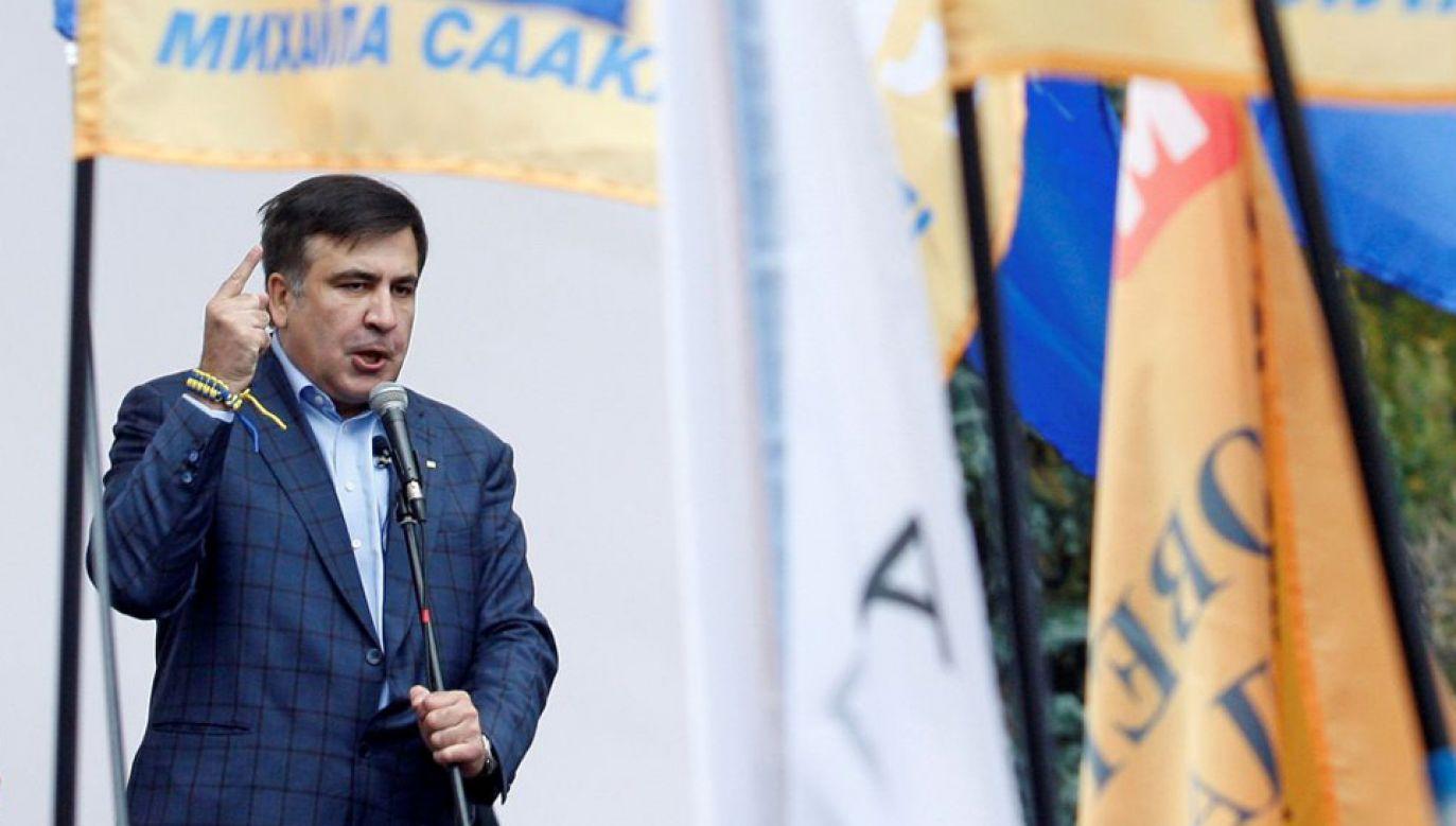 Władze Gruzji wystawiły za Micheilem Saakaszwilim międzynarodowy list gończy (fot. Vladimir Shtanko/Anadolu Agency/Getty Images)