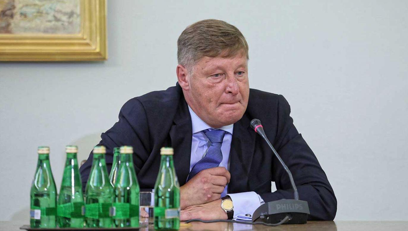 Były wiceminister finansów i Generalny Inspektora Informacji Finansowej Andrzej Parafianowicz podczas przesłuchania przez sejmową komisję śledczą ds. Amber Gold (fot. arch. PAP/Leszek Szymański)