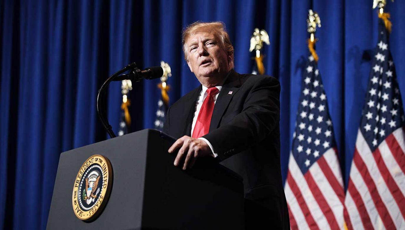 """Donald Trump twierdzi Teheran był """"bardzo wrogi"""" wobec Waszyngtonu (fot. PAP/EPA/Olivier Douliery / POOL)"""