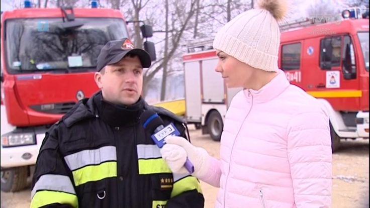 Akcja strażaków na zamarzniętym jeziorze w Ośnie. XV Urodziny Studia Tańca Remix ze Skwierzyny. Ferie na Słowiance