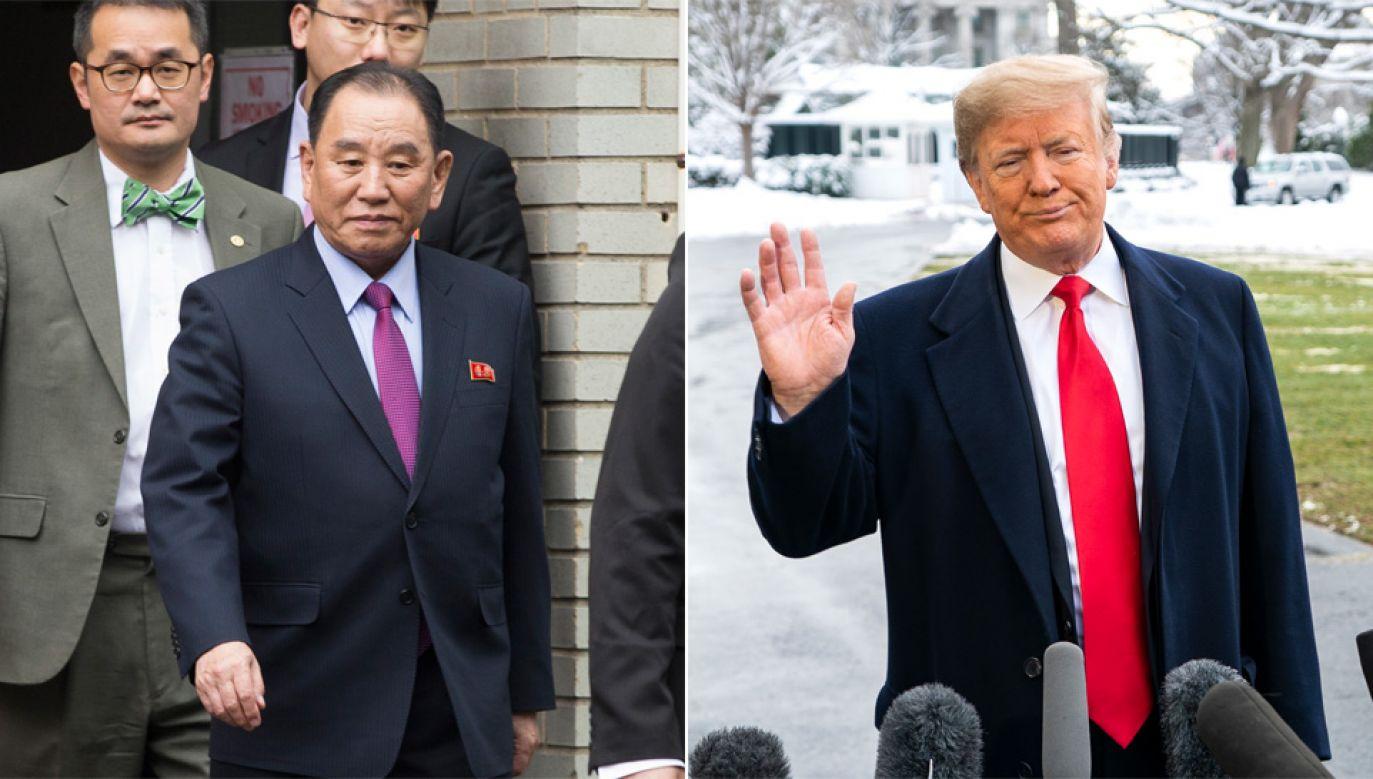 Rozmowa Donalda Trumpa z Kim Jong Czolem trwała półtorej godziny (fot. PAP/EPA/MICHAEL REYNOLDS/JIM LO SCALZO)